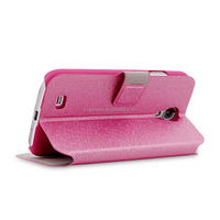 Wholesale flip leather case with Card simple case for Samsung S5