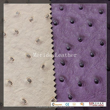 MRD2158 Fake Ostrich PVC for bag making material,PVC for artificial leather for sofa