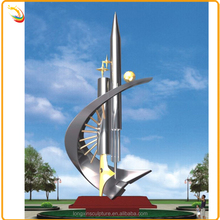 Large Modern Stainless Steel Sculpture For School Decoration