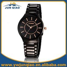 Black Stainless Steel Strap Sinobi Watch for Men and Women Fashion Japanese-Quartz Movement Lovers Wristwatch