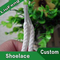 Environmental attractive cheap satin ribbon shoe laces of high quality
