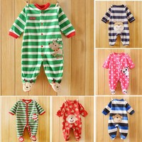 Newborn baby clothing children flannel cartoon long sleeve romper babies product infant clothes from china