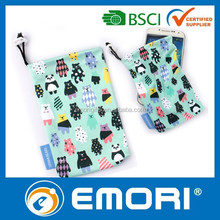 Low cost promotion gift OEM microfiber high quality cell phone pouch