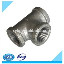 galvanized malleable cast iron pipe fitting :Tee.high quality goods