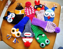 custom hand knitted crochet golf club head covers
