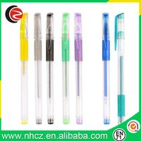 Plastic Black Gel Pen with Highlight Color Ink