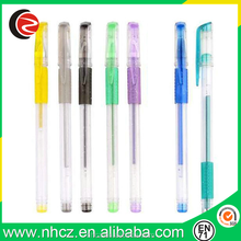 Plastic Black Gel Pen with Highlight Color Ink