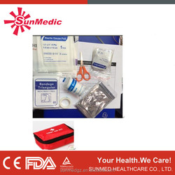 2015 Hot Sale of first aid kit, emergency kit for travel and home