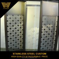 custom indoor metal rotatable folding screen room divider