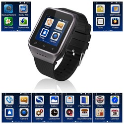 Smart Watch Phone Bluetooth 4.0 Android 4.4.2 Wifi 3G WCDMA Dual Core MTK6572 1.2GHz GPS 5.0 MP Camera S8 Wristwatch Smartphone