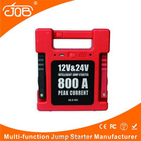 12V Car Jump Starter and 24V Car Jump Starter with Intelligent Car Battery Clamps for Gasoline and Diesel Engine Vehicles