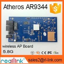 5.8GHz High Power outdoor wireless Atheros AR9344 POE access point or AP board wireless LAN bridge board