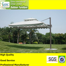 Large size double layer windproof aluminum square sun garden parasol umbrellas outdoor SOU1004(A009)