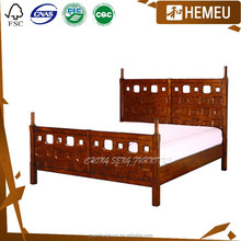 High bed rails and high end 1.5m queen wooden bed frame