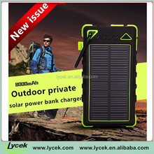 Hot sale in america innovative power bank 8000mAh solar panel