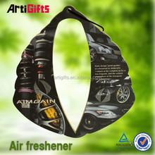 Promotion cheap custom 2mm cotton hanging paper car air freshener