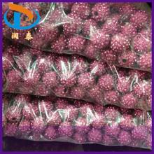 Large Hole 14mm 16mm Rose Round Clay Shamballa Rhinestone Pave Crystal Ball Beads