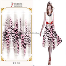 New Style Print Polyester Fabric Chiffon Free Sample For Woman Garment