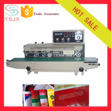 Continuous bag band sealer with printing