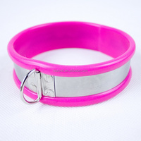 Beautiful Pink Color And High Quality Stainless Steel Collar Bondage For Adult Stimulate