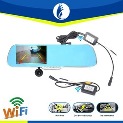 5.0inch TFT Android 4.1 system one second startup wireless wifi rearview mirror navigation