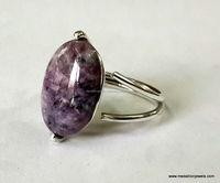 Charolite Oval Cabochon Gemstone 925 Sterling Silver Ring, Designer Rings, Fashionable Gemstone Rings