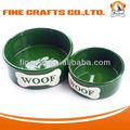 Woof perro de cerámica bowl- l