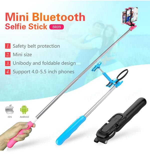 mini mobile phone bluetooth wireless selfie stick monopod buy wireless self. Black Bedroom Furniture Sets. Home Design Ideas