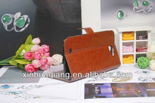luxury case for samsung note 2 7100 luxury cover for samsung note 7100 crazy horse leather case shirt handbags cute cases