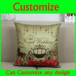 Cheap fashion design printed blank and white sofa cushion cover