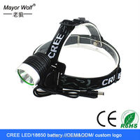 outdoor waterproof camping rechargeable ultra bright led coal miners headlamp