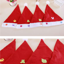wholesale High quality cloth making Christmas Cap,funny Santa Hat for Child