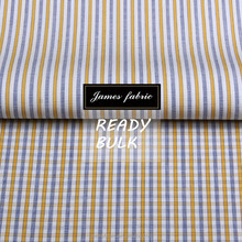 James 100% Cotton Yarn Dyed High Density LA Finished Colorful Stripe/Check/Plaid Plain Weaving Spring/Summer Shirting Fabric