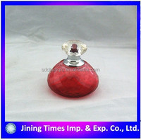 China wholesale alibaba elegant red glass perfume bottle for women