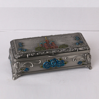 Home decoration,wedding decoration antique metal gift box for jewelry
