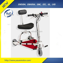 24V 10Ah Li-ion battery best folding travel electric scooter for sale