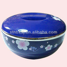 Small Size Double wall Japanese Sakura Insulated Food Container Stainless Bowl