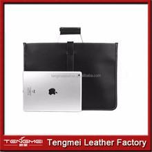 pu Leather Briefcase Messenger Laptop Tablet Office Work Bag Attach Case