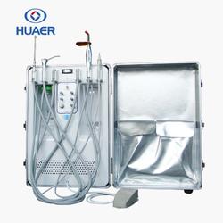 Dental Portable Turbine Unit Suction Air Compressor + High Low Handpiece 4H