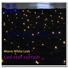 led light black curtain