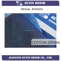 100% cotton twill denim fabric for garments