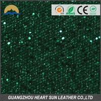 pu leather glitter fabrics to upholster walls( nuevo material para adornar pared)