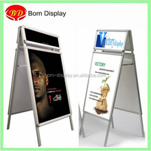 Great quality floor standing aluminum snap a frame board with header