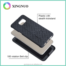Knit lines design stand PC mobile phone hard case for samsung S6 edge plus