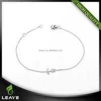 Fashion 925 Silver AAA Zirconia Anchor Bracelet, Costume Jewelry Imported Bracelets China