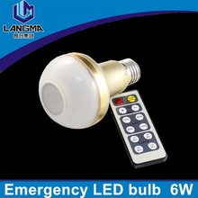 Langma brightness adjustable power failure emergency remote control led lamps with accumulator emergency duration