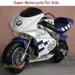Mini Bike 2 Stroke Kids Bike 50CC Pocket Bike with Fast Speed