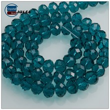 Malachite green 6mm faceted rondelle crystal glass beads for wedding dresses