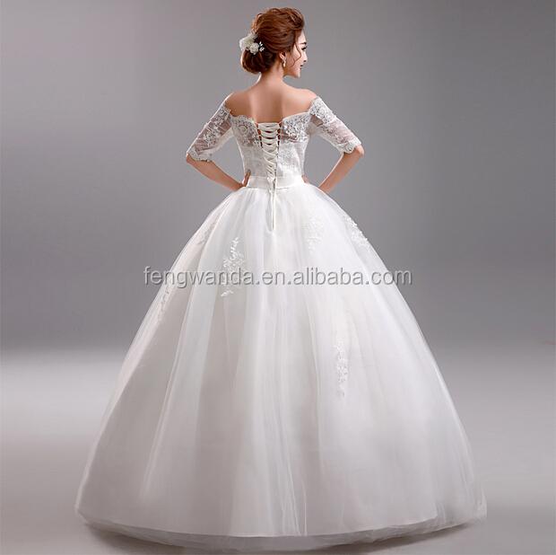 2014 elegant ball gown white tulle skirt vintage tea for Tea length tulle skirt wedding dress
