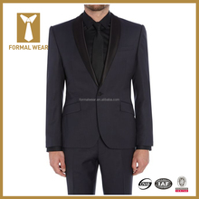 Tailor your own new design satin lapel wedding suit for men